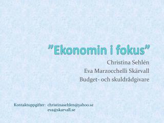 """Ekonomin i fokus"""