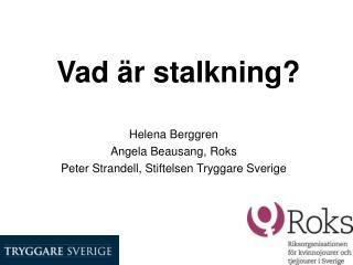 Vad är stalkning?