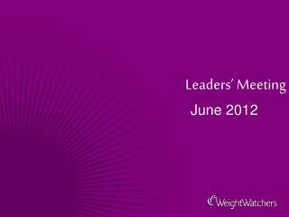 Leaders' Meeting