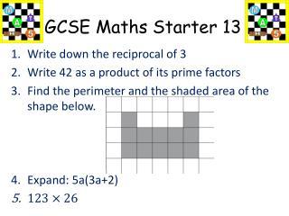GCSE Maths Starter 13