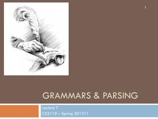 Grammars & Parsing