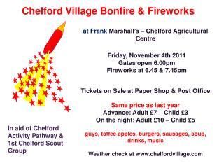 Chelford Village Bonfire & Fireworks