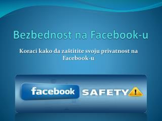 Bezbednost na Facebook-u