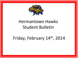 Hermantown Hawks Student Bulletin