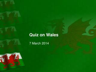 Quiz on Wales