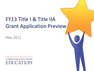 FY13 Title I & Title IIA  Grant Application Preview