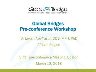 Global Bridges Pre-conference Workshop