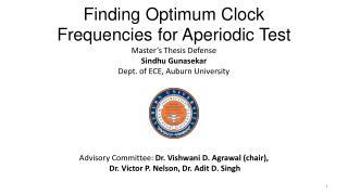 Finding Optimum Clock Frequencies for Aperiodic Test
