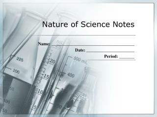 Nature of Science Notes
