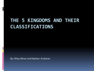 The 5 kingdoms and their classifications