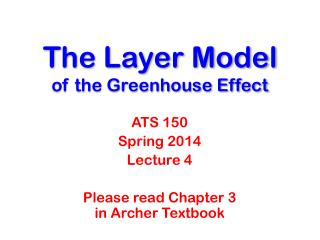 The Layer Model of the Greenhouse Effect