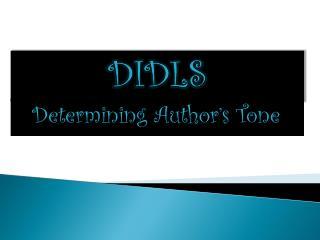 Determining Author's Tone