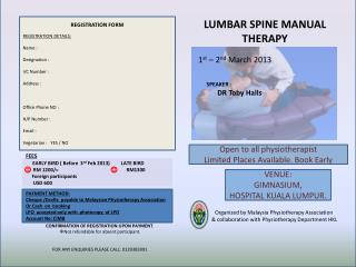 LUMBAR SPINE MANUAL THERAPY