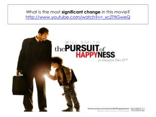 What is the most  significant change  in this movie ? youtube/watch?v=_ xcZTtlGweQ