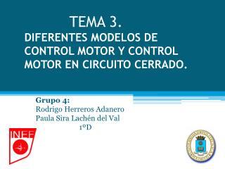TEMA 3. DIFERENTES MODELOS DE CONTROL MOTOR Y CONTROL MOTOR EN CIRCUITO CERRADO.