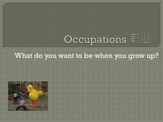 Occupations  职业