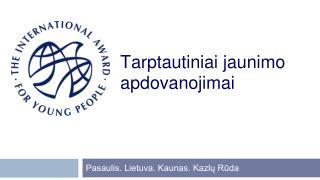 Tarptautiniai jaunimo apdovanojimai
