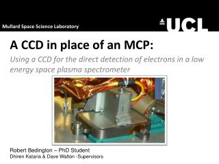 A CCD in place of an MCP: