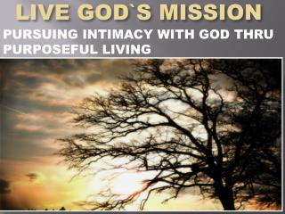 LIVE GOD`S MISSION