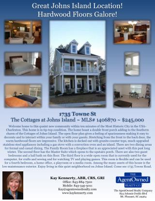 Great Johns Island Location! Hardwood Floors Galore!