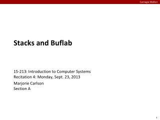 Stacks and  Buflab