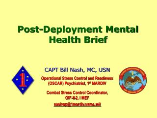 Post-Deployment Mental Health Brief
