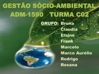 GRUPO : Bruna Claudia Elaine Frank Marcelo Marco Aurélio Rodrigo Rosana