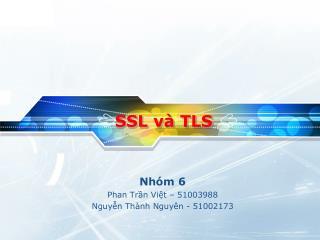 SSL  và  TLS