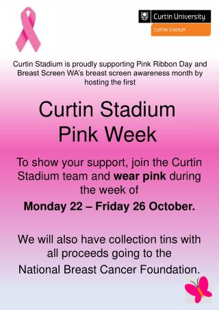 Curtin Stadium Pink Week