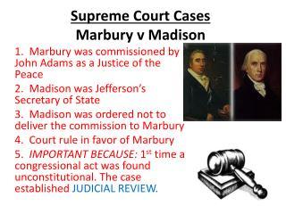 Supreme Court Cases Marbury v Madison