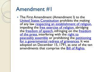 Amendment #1