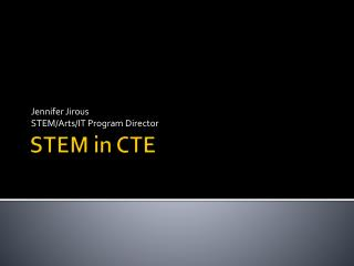 STEM in CTE