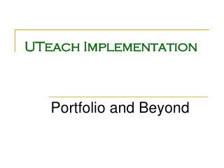 UTeach Implementation