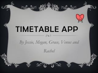 Timetable app