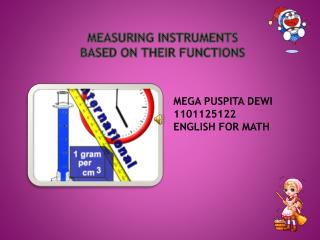 Measuring Instruments BASED ON THEIR FUNCTIONS