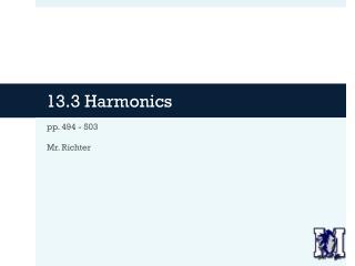13.3 Harmonics