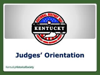 Judges' Orientation