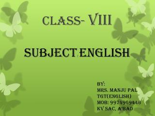 CLASS-  VIII