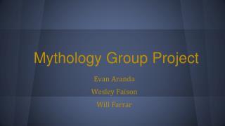 Mythology Group Project