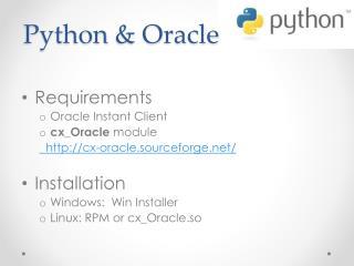 Python  & Oracle