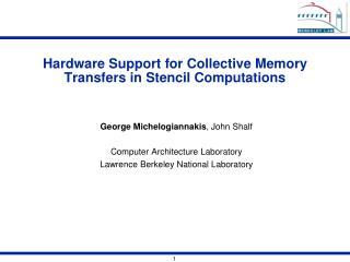 Hardware Support for Collective Memory Transfers in Stencil Computations
