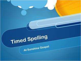 Timed Spelling