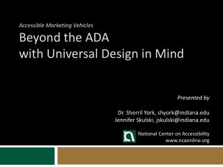 Accessible Marketing Vehicles Beyond the ADA with Universal Design in Mind
