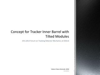 Concept  for  Tracker  Inner  Barrel  with  Tilted Modules