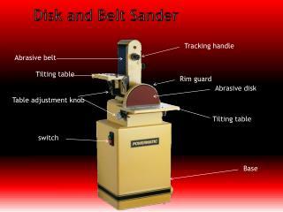 Disk and Belt Sander