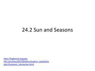 24.2 Sun and Seasons