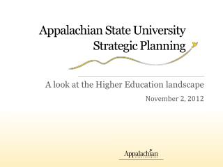 Appalachian State University Strategic Planning