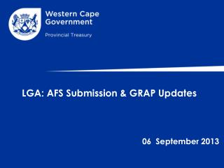 LGA: AFS Submission & GRAP Updates