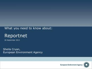 Sheila Cryan,  European Environment Agency