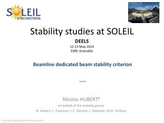 Stability studies at SOLEIL